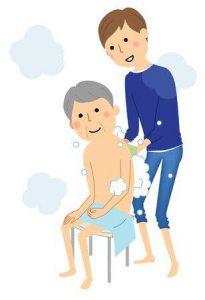 حمام کردن پدر توسط فرزند