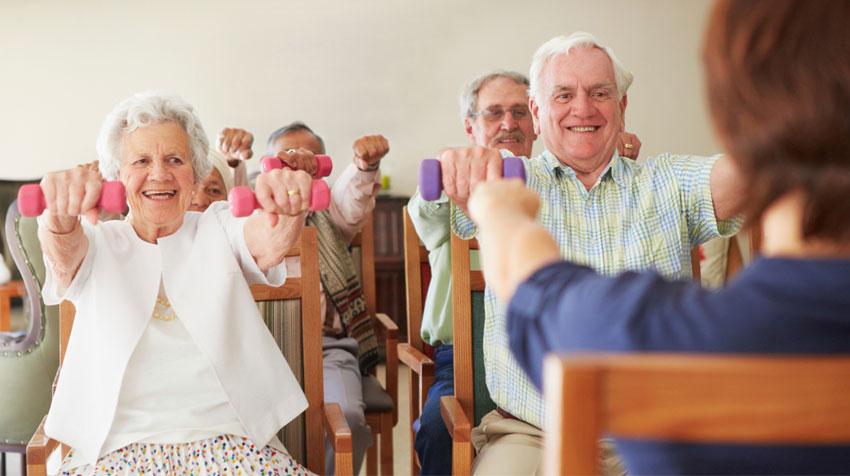 ورزش مخصوص سالمندان با ناتوانی حرکتی
